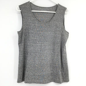 Eileen Fisher sleeveless tank grey layering XS